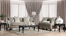 VERITY - Gray Adjustable Sectional Sofa