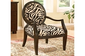 Zebra Print Accent Chair/ Out of stock