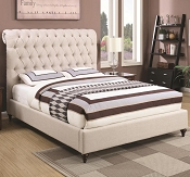 Devon Upholstered Bed Frame-color option