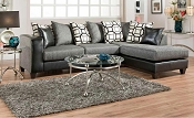 Black and Grey Sectional