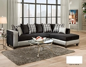 Shimmer Steel Silver Sectional