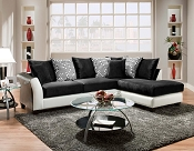 White and Black Sectional