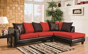 Red and Black Sectional
