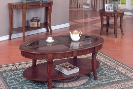 3-PC Coffee and End Table Set - Cherry