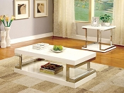 White Contemporary Coffee Table
