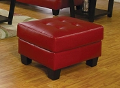 Faux Leather Ottoman-color option