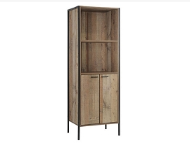 High Tower Cabinet - Rustic Oak