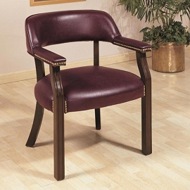 Burgandy Leatherette Office Chair
