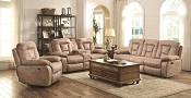 2 Pcs Evensky Bone Recliner Sofa and Love Seat