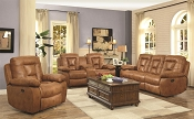 2 Pcs Evensky Saddle Recliner Sofa and Love Seat
