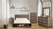 Rustic Style Bed Frame