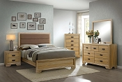 Contemporary Natural Bed Frame
