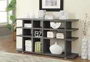 Contemporary Weathered Grey Bookcase Console