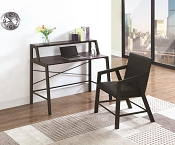 Black  Metal Desk with Chair Set