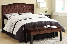 Queen / Full Convertible Headboard -Brown Suede