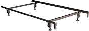 Twin Heavy Duty Metal Bed Frame with Glides