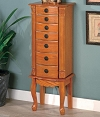 Classic Oak Jewelry Armoire