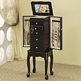 Black Finish Jewelry Armoire