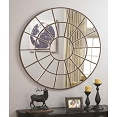 Circular Mirror with Palladian Inspired Design