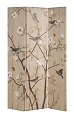 Floral and Bird Folding Screen