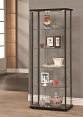 Black Contemporary Curio Cabinet