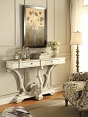 White Accent Console Table