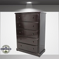 Jumbo 5 Drawer Pine Chest-color option