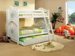 Twin/Twin Isabella White Bunk Bed