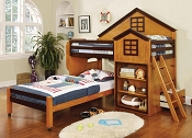 House Design Oak Loft Bed