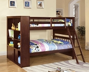 Book Case Espresso Finish Twin/Twin Bunk Bed