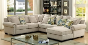 Ivory Fabric Sectional