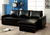 Black Convertible Sofa Bed  Sectional