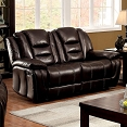 Dark Brown Recliner Love Seat