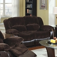 Champion Fabric and Leatherette Love Seat Recliner
