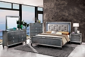 Gray Finish Bed Frame
