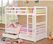 Traditional White Bunk Bed