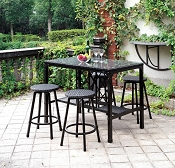 5 Pc Patio Counter Height Dining Set