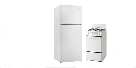 2 Pcs Refrigerator and Gas Range Bundle Deal