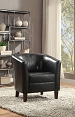 Espresso Leatherette Accent Chair