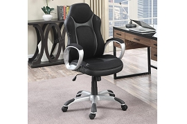 Black and Grey Retro Office Chair