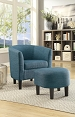 Accent Chair with Ottoman-color option
