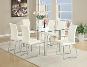 6 Pcs White Modern Dining