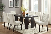 5 pcs Contemporary Tufted Dining set