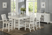 7 Pcs Conter Height Dining Set