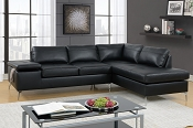 2 Pcs  Breathable Leatherette Sectional- Grey or Black
