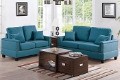 2 Pcs Teal sofa Set