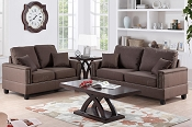 2 Pcs Chocolate sofa Set