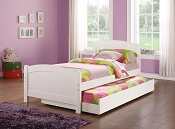Twin Bed with pull out Trundle-color option