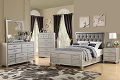 Silver Wooden Bed Frame