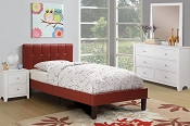 Faux Leather Bed Frame-color option